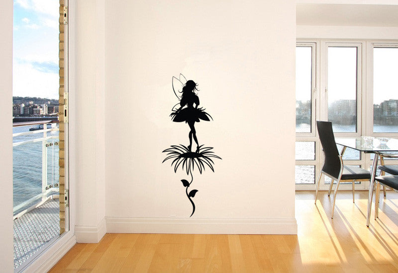 Fairy On Flower Wall Decal