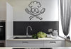 Chef with Fork and Spoon Wall Decal