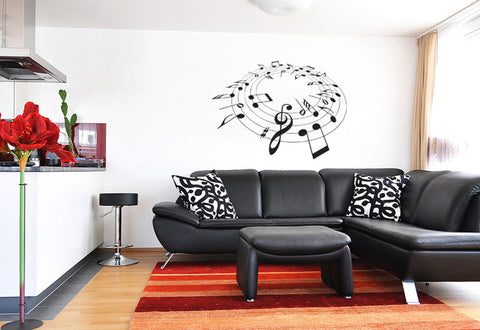 Music Go Round Wall Decal