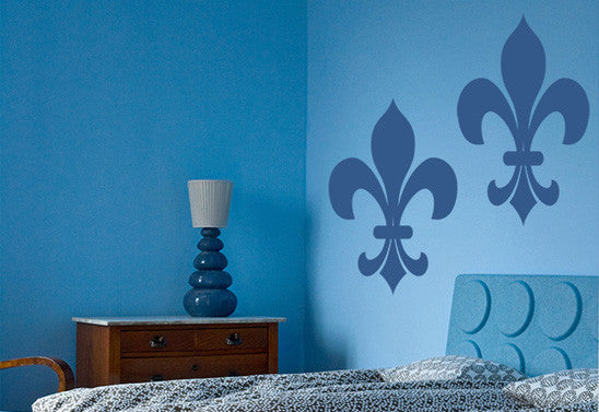 Fleur De Lis Wall Decal Set of 2
