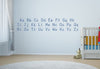 Manuscript D'nealian Alphabet Wall Decal