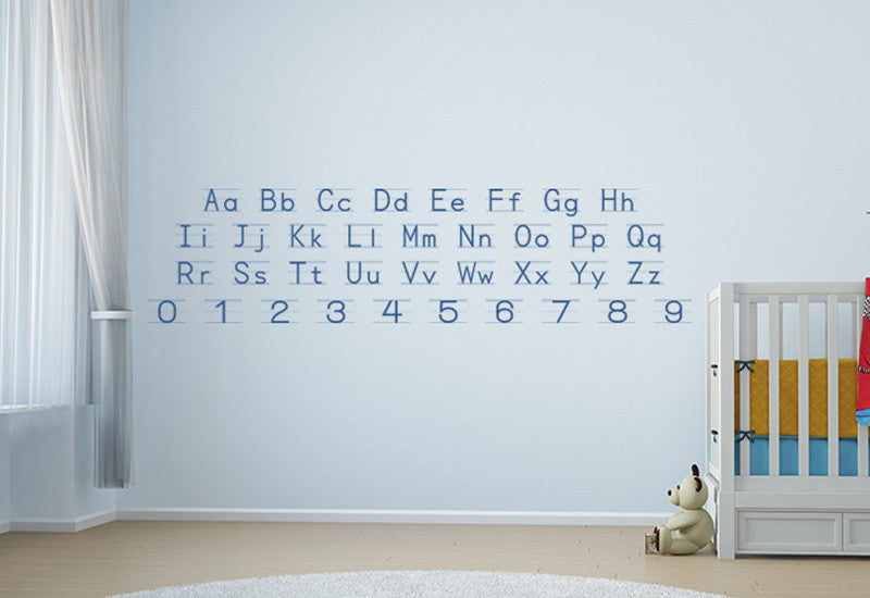 Manuscript Du0027nealian Alphabet U0026 Numbers Wall Decal Part 88
