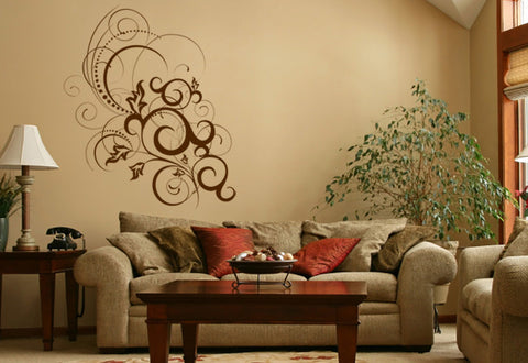 Flowing Floral Wall Decal