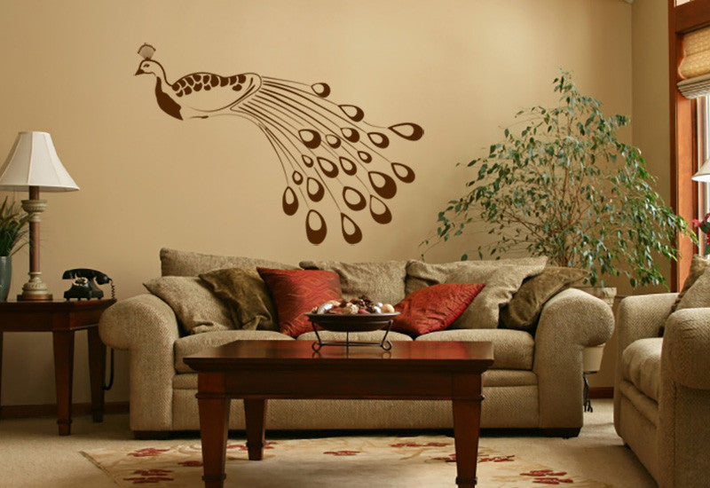 Elegant Peacock Wall Decal Part 43