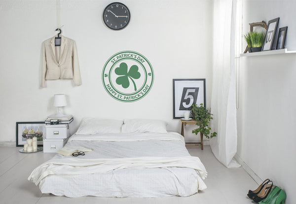 St. Patrick's Day Three Leaf Clover Wall Decal