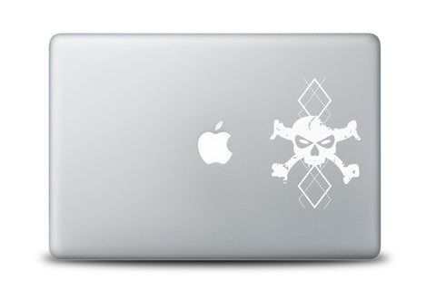Argyle Skull Decal for Laptops