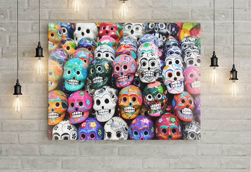 Colorful Skulls Canvas