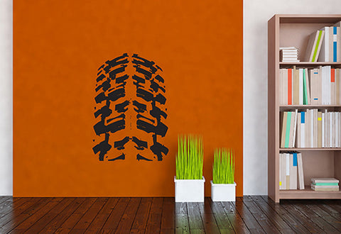 Dirt Bike Tire Wall Decal
