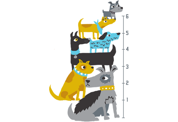 Dogs Growth Chart Wall Decal
