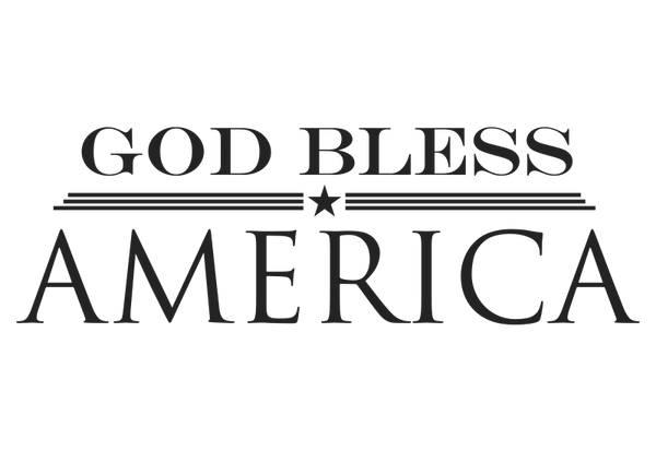 God Bless America Wall Decal