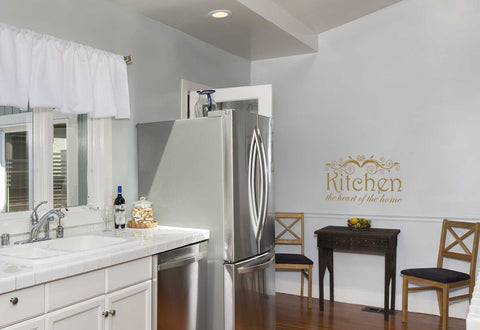 KItchen The Heart of The Home Quote Wall Decal