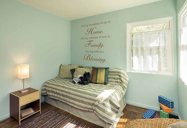 Home Family Blessing Quote Wall Decal