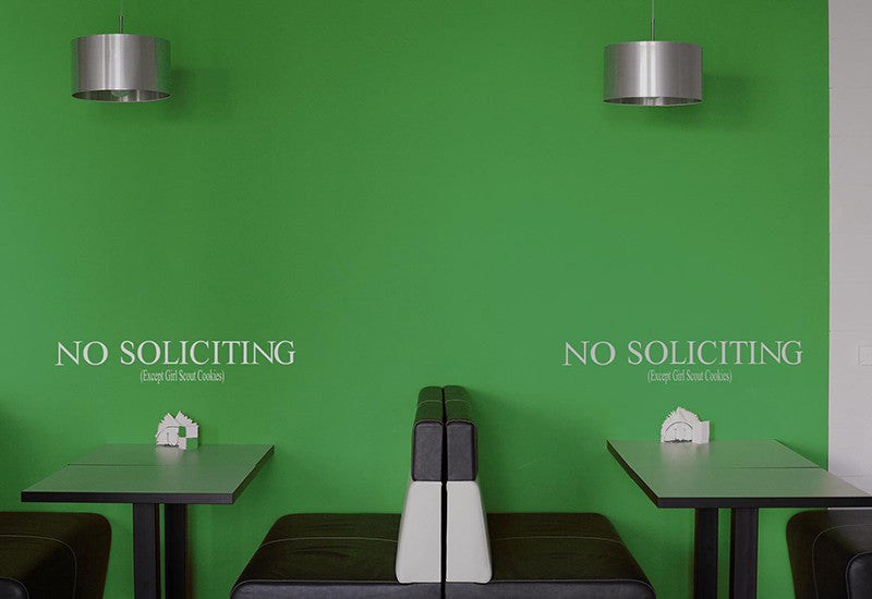 No Soliciting Wall Decal