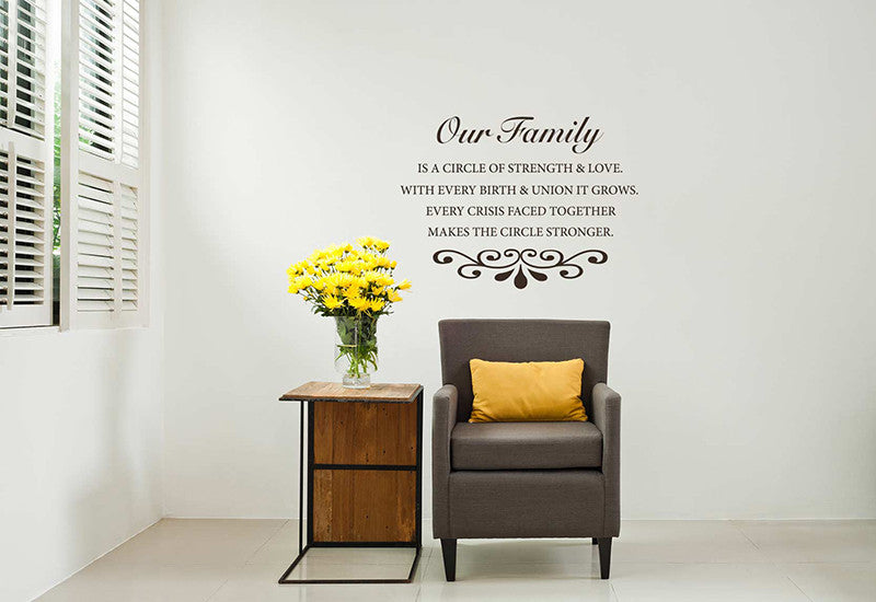 Superior Our Family Quote Wall Decal