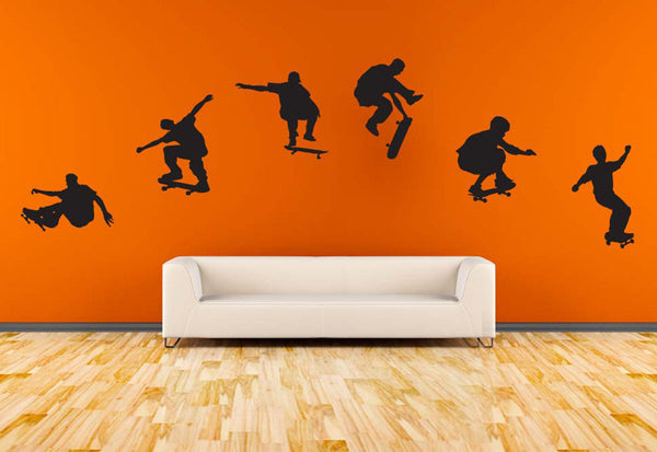 Skateboarders in Action Wall Decal