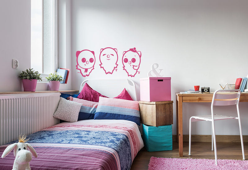 The Three Little Pigs Wall Decal