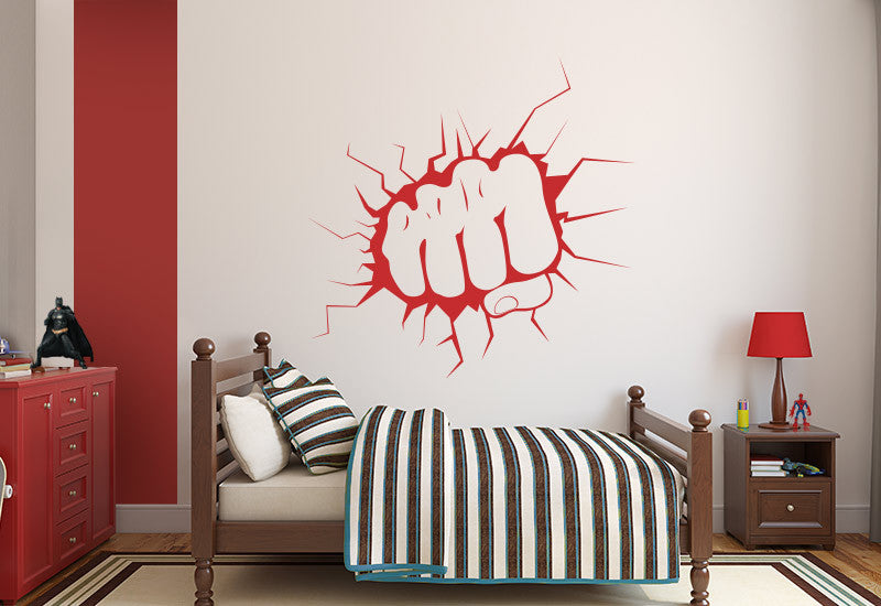 Punching Fist Wall Decal
