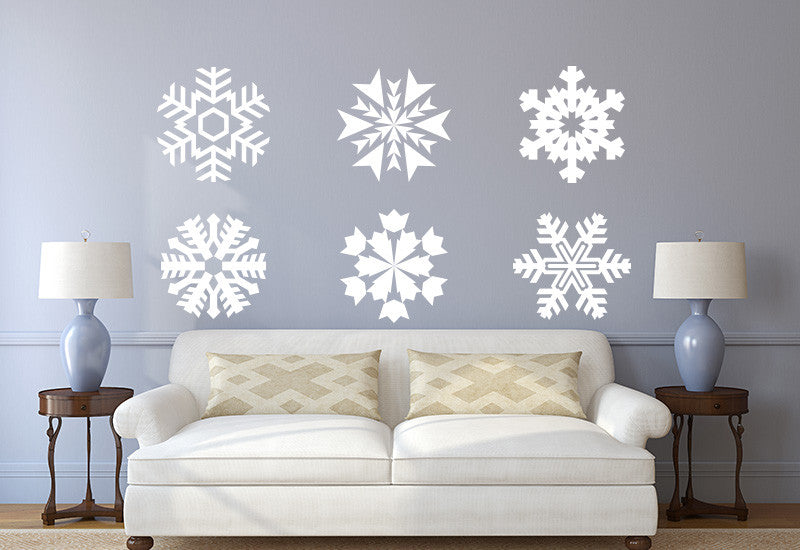 Snowflakes Wall Decal - Set of 6