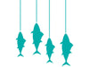 Fish on Lines Wall Decal
