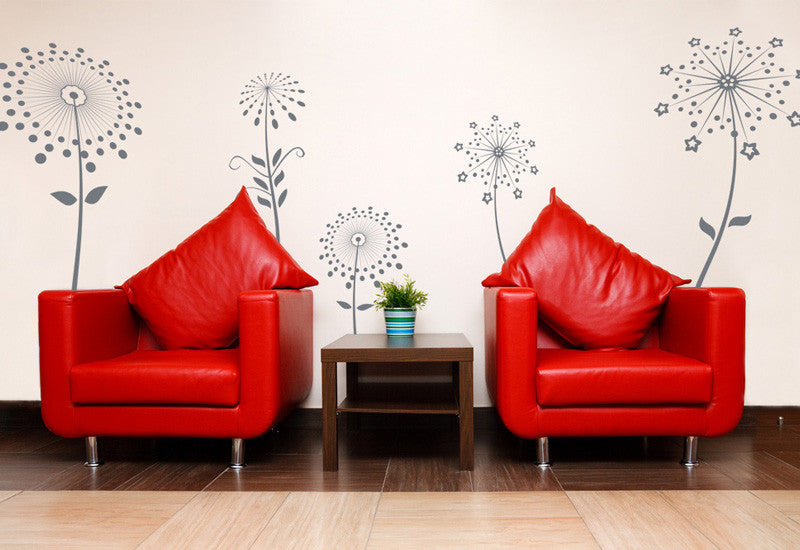 Set of 5 Flowers Wall Decal