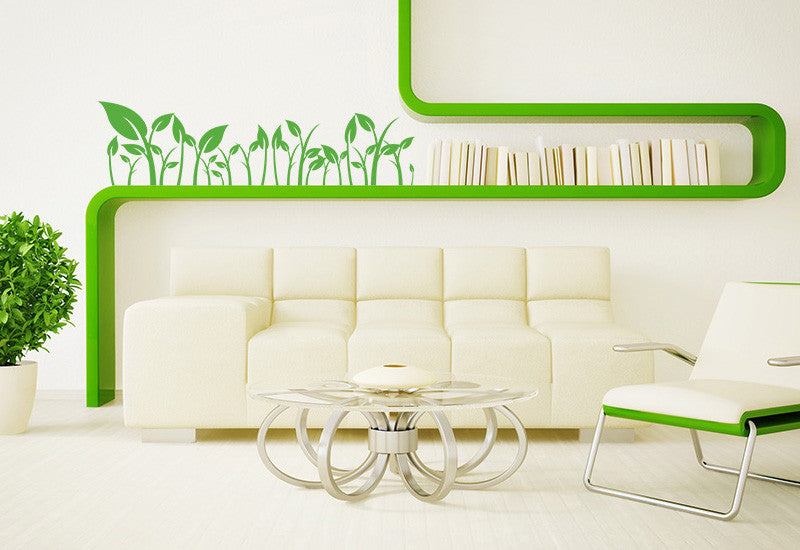 Row Of Leaves Wall Decal Easy Decals - Wall decals leaves