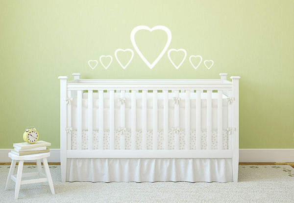 Hearts Wall Decal - Set of 32