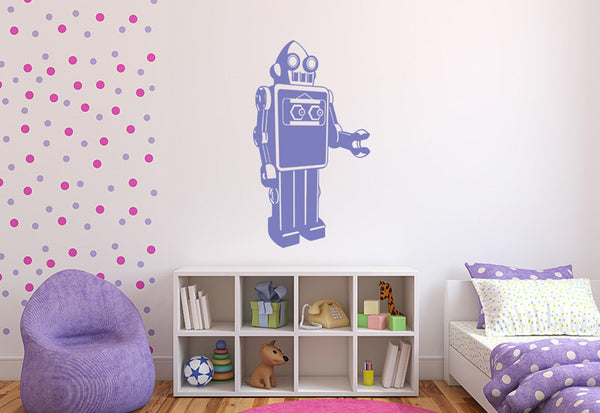 Retro Robot Wall Decal