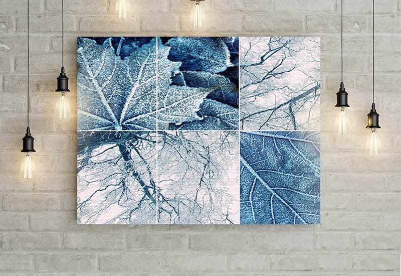 Winter Leaves Art Canvas