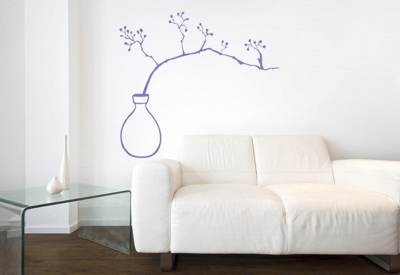 Branch in Vase Wall Decal