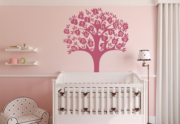 Alphabet Tree Wall Decal