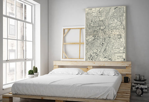 Lyon Vintage Map Canvas
