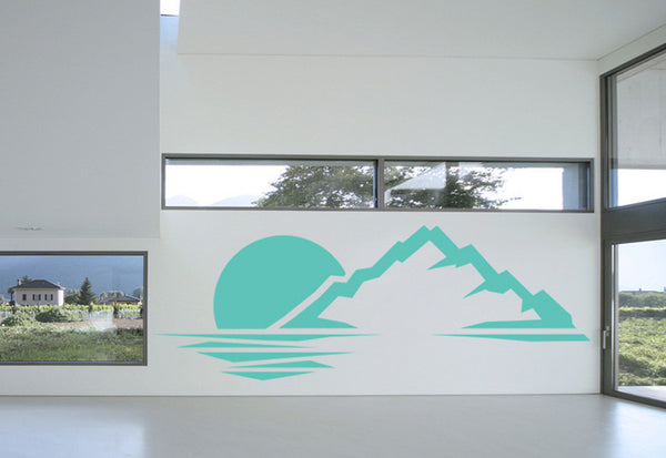 Mountain Sunset Wall Decal
