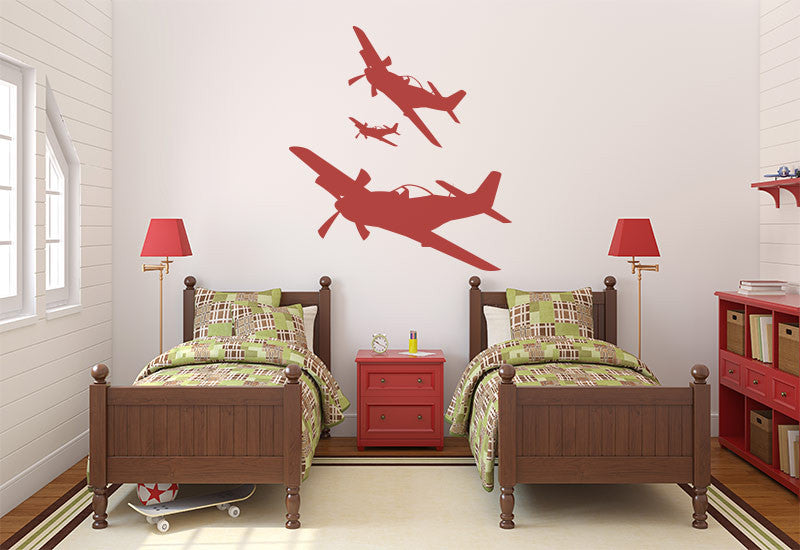 Mustang Plane Wall Decal
