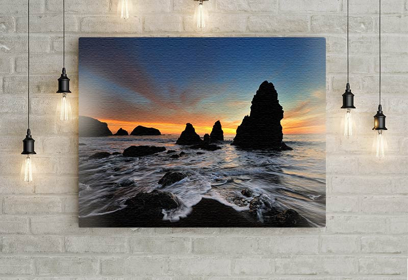 Ocean Sunset Scene Canvas
