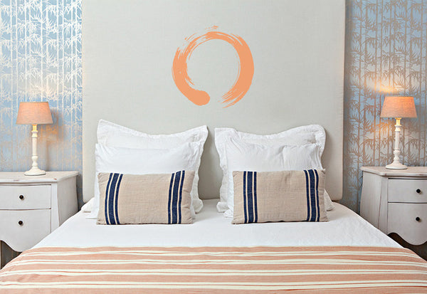 Circular Enso Brushstroke Wall Decal