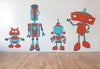 Robot Family Wall Decals