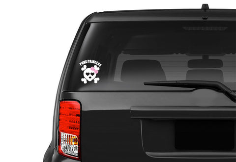 Punk Princess Skull Vehicle Decal
