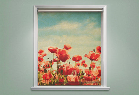 Poppy Flowers Roller Shades