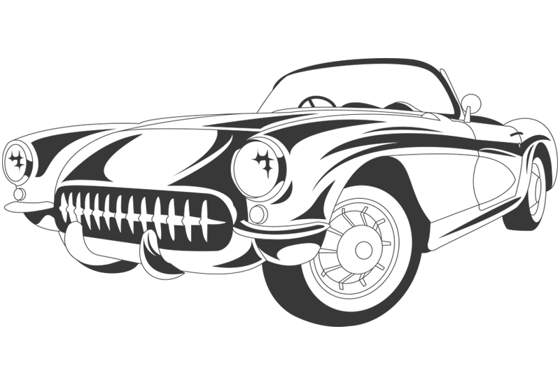 Classic Car #2 Wall Decal