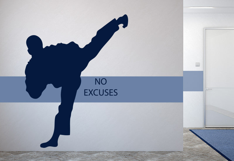 Karate No Excuses Wall Decal