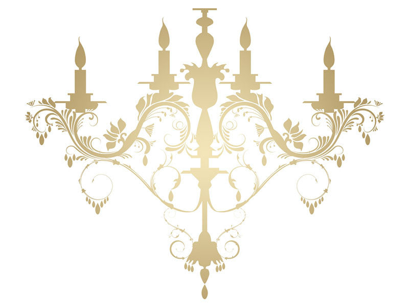 Wall decal chandelier thejots chandelier wall decal easy decals lighting ideas aloadofball Choice Image