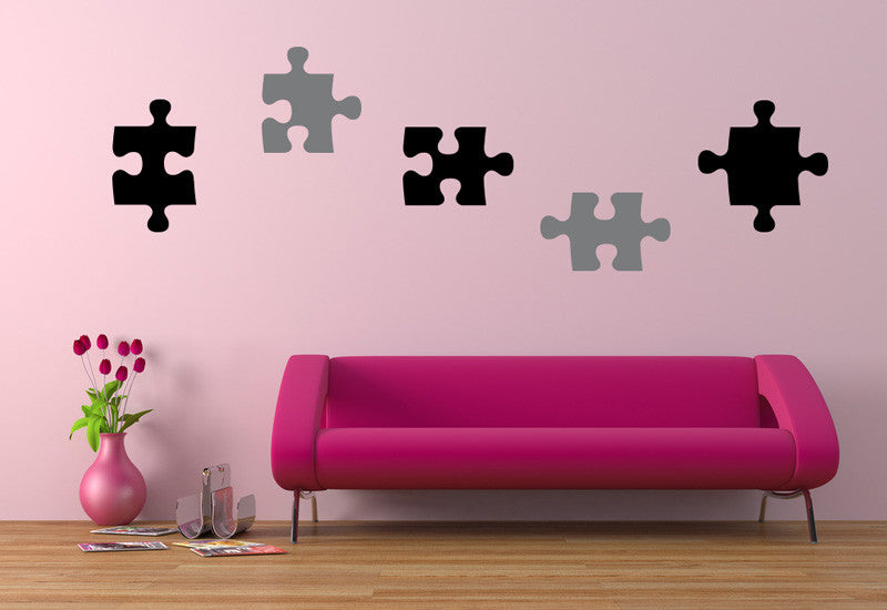 Five Puzzle Pieces Wall Decal