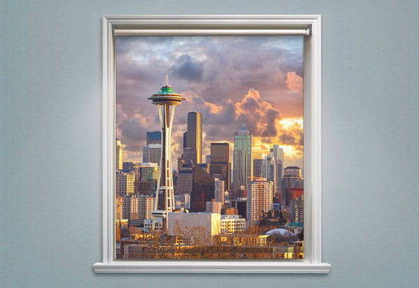 Seattle City Skyline Roller Shades