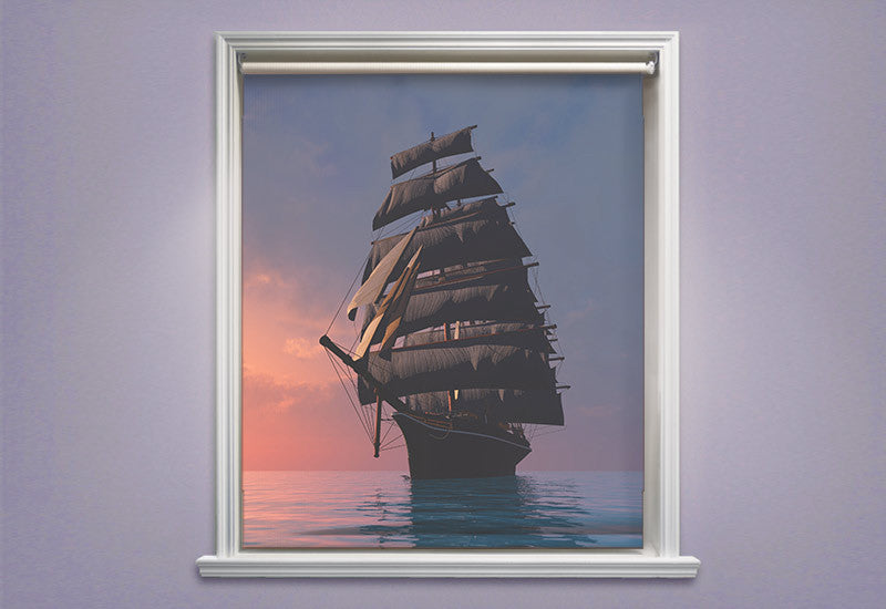Ship on the Ocean Roller Shades