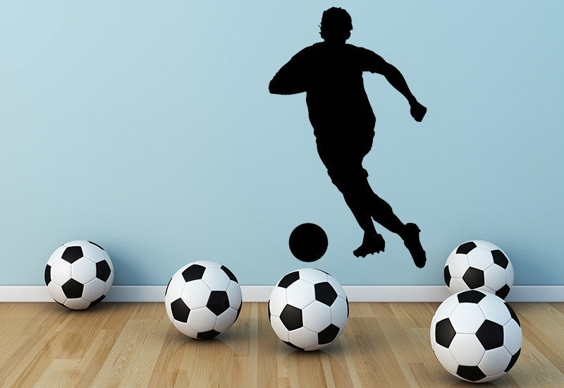 Soccer Player With Ball Wall Decal