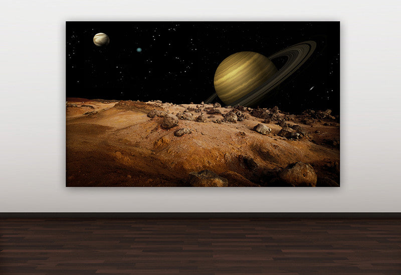 Space Scene with Saturn Canvas