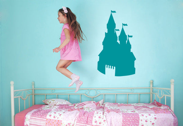 Towering Fantasy Castle Wall Decal