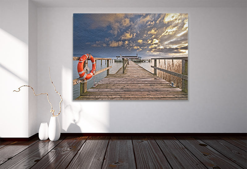 Pier at the Ocean Canvas
