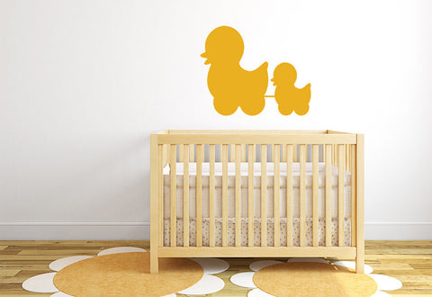 Mom and Baby Duck Wall Decal