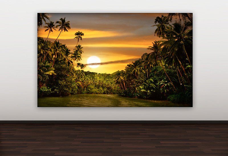 Jungle Sunset Canvas